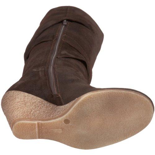 Zagabria Nara High Knee Brown Women's Boot Box Shoes qfHvfrE
