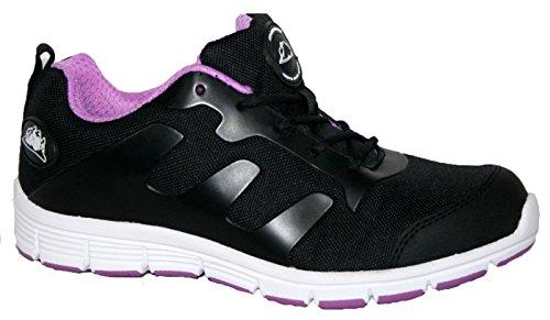 Groundwork Gr95 - Zapatillas de seguridad Unisex adulto negro y lila