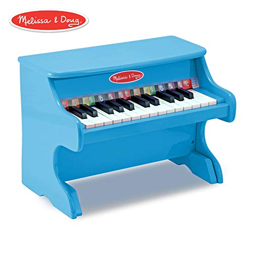 Melissa & Doug Learn-to-Play Piano With 25 Keys and Color-Coded Songbook - Blue (Best Musical Instrument For Child To Learn)