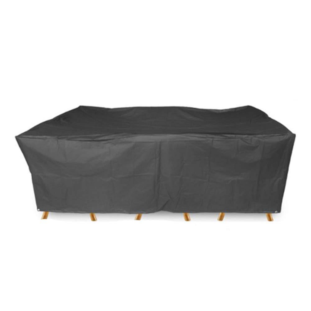 Jia He Staubschutz im Freien Staubschutz - Gartenmöbel-Set Staubdichte, Wasserdichte Plane Oxford-Tuch Balkon-Tisch und Stuhl Staubschutz Anti-Aging Schwarz (Multi-Größe)