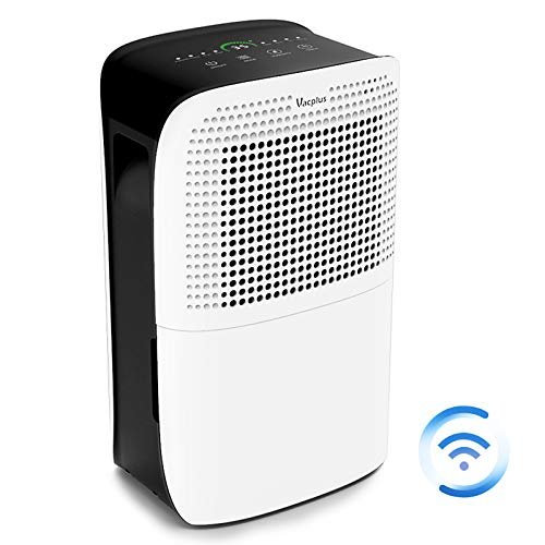 Vacplus 50 Pints Dehumidifier with WiFi Remote for Large Rooms, Large Capacity for Basements Bedroom & Home…