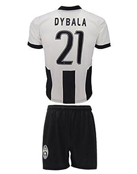Conjunto Equipacion Camiseta Jersey Futbol Juventus Paulo Dybala 21 Replica Autorizado Para Hombre Talla de Niño (M): Amazon.es: Deportes y aire libre