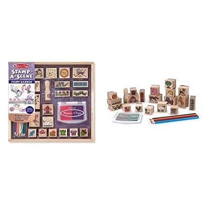 Melissa & Doug Stamp-a-Scene-Fairy & Farm Bundle: Toys & Games