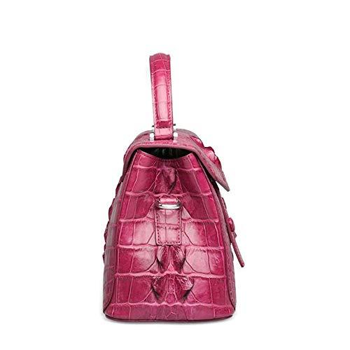 Cuir en Fashion Diagonal Burgundy Main Croco Sac WWAVE A Dames Noir Sacs Classique à épaule à Tendance pour Main XXwpYAq