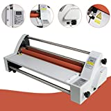 funwill 17'' Hot Cold Roll Laminator Laminating Machine Single and Dual Sided,Electronic Temperature Control,Laminating Size Width 450mm