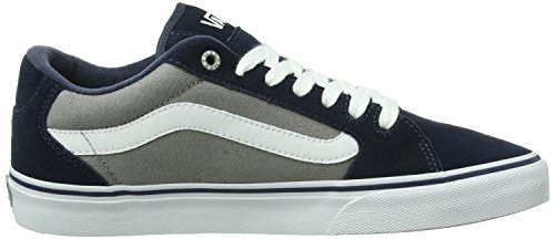 textile Mode Homme white grey Bleu Faulkner Navy M Baskets Vans Of7UY6