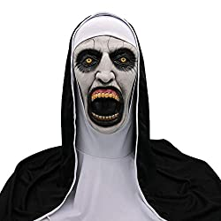 Clearance Sale!DEESEE(TM)Cosplay Scary Horrible Nun Mask Melting Face Latex Costume Halloween Masquerade (03)