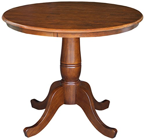 International Concepts 30-Inch Round Pedestal Table, 30-Inch, (30 Inch Pedestal Dining Table)