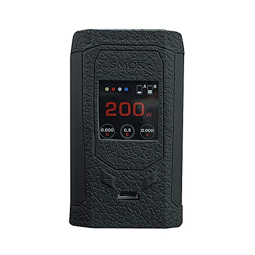 (DSC-Mart Texture Case for SMOK Mag R-kiss Kit 200w Box MOD Protective Silicone Skin Rubber Cover Sleeve Wrap Fits Rkiss (Black))