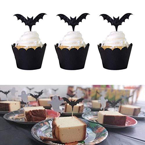 elegantstunning Halloween Cake Decoration Bat Placards Rims for