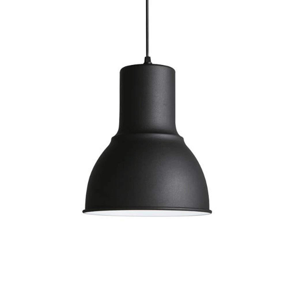 Nach Esszimmer, Schlafzimmer Lampe modernen minimalistischen Eingangsflur kreative Retro schwarz Eisen Abdeckung mit einem einzigen Kopf Kronleuchter 5-W-LED (Farbe  weiß)