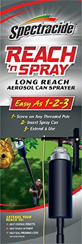 Reach 'n Spray RNS Spectracide, Long Reach Aerosol Can Sprayer, 1-Count, black