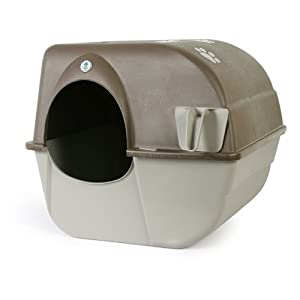 Amazon Com Omega Paw Self Cleaning Litter Box Pewter