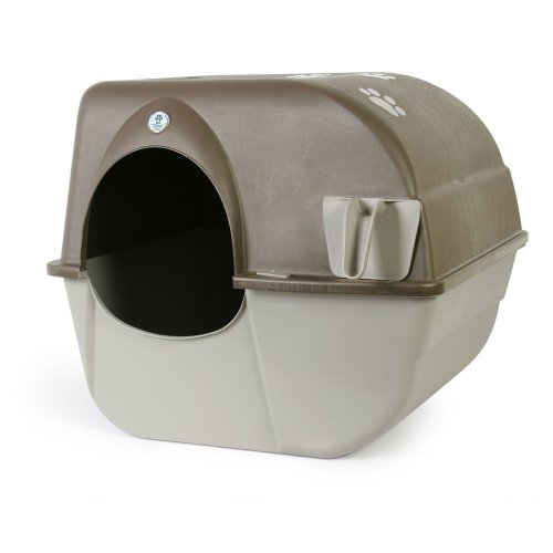 Omega Paw Self-Cleaning Litter Box Pewter