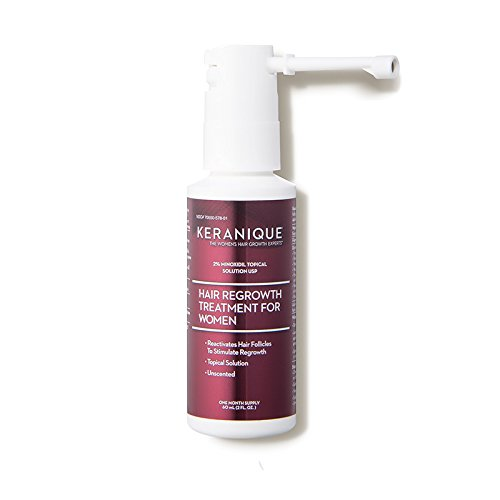 Keranique Hair Regrowth Treatment Extended Nozzle Sprayer – 2% Minoxidil, 2 Fl Oz 30 Day Supply – Regrow Thicker-Looking Hair, Helps Revitalize Hair Follicles