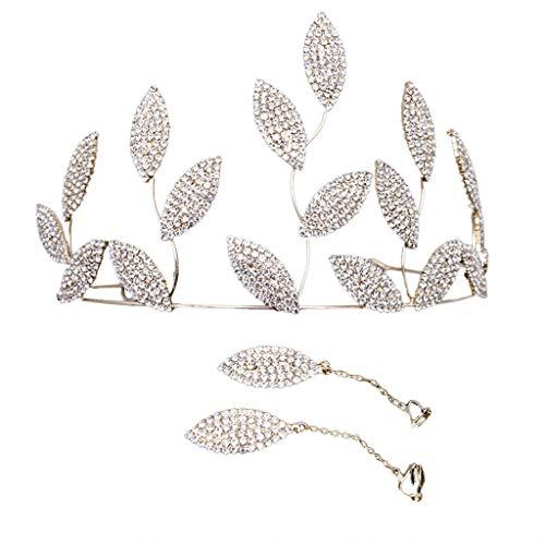Bravetoshop Bride Crown,Tiara,Zircon Rhinestone wedding,Valentine day Bridal Tiara Headband (Gold)
