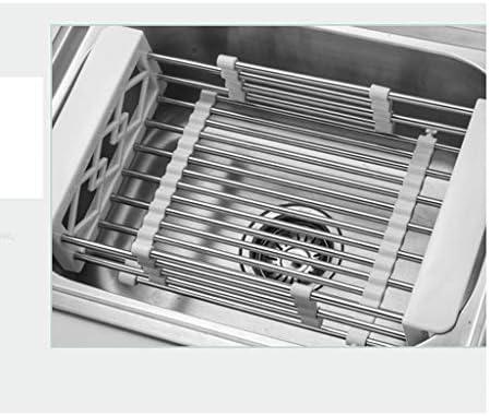 食器棚 ディッシュラックドレインバスケット、キッチンラック、ステンレス鋼、伸縮シンクラック、長方形、シンク、ホーム (Color : Drain basket)
