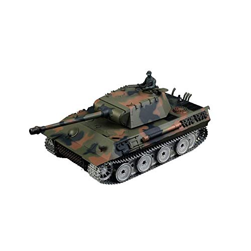 TIEHUE Tank Toys RC Radio Controlled Tank, German Leopard Type A Metal Tank 2.4Ghz Remote Control 1/16 Scale Model…