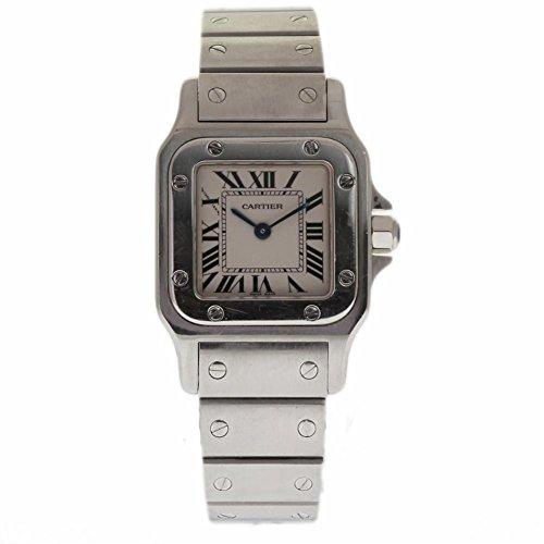 Cartier Santos Galbee swiss-quartz womens Watch W20056D6 (Certified Pre-owned)