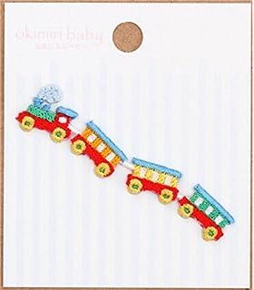 Parche termoadhesivo aplique en forma de tren rojo verde azul 1 unidad