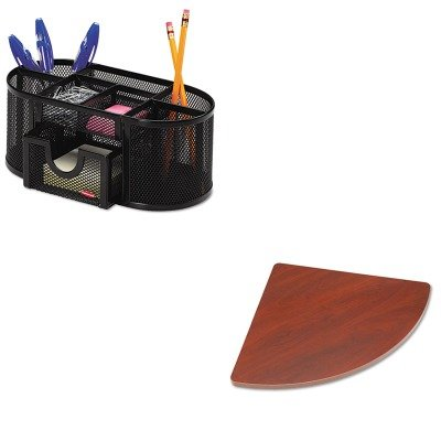KITBSHWC90429AROL1746466 - Value Kit - Bush 27amp;quot; W Corner Connector Series A Hansen Cherry (BSHWC90429A) and Rolodex Mesh Pencil Cup Organizer (ROL1746466) - Hansen Cherry Corner Connector