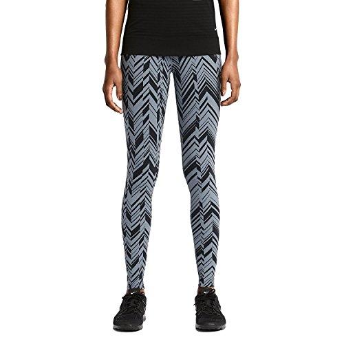 Nike Women's Dri-Fit Legendary Freeze Frame Training Tights-Slate/Black-XL