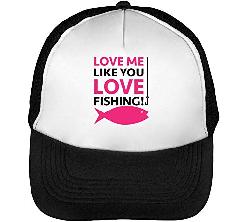 Like You Fishing Gorras Hombre Snapback Beisbol Negro Blanco