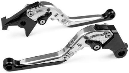 Plegable Ajustable Freno y palanca de embrague para Ducati Scrambler 2015-Plateado