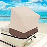 QEES Boat Center Console Cover, Heavy Duty Waterproof Cover for Center Console Boat Helm or Boat Flip-Flop Seat, Easy to Install/Secure 44″x40″x30″JJZ111