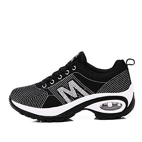 Punto Tul Mujer Heel Sneakers de de Black de ZHZNVX Shoes Zapatos Black Primavera Round Comfort Verano Flat Toe Gold Walking Silver Gold 6vEXqwI