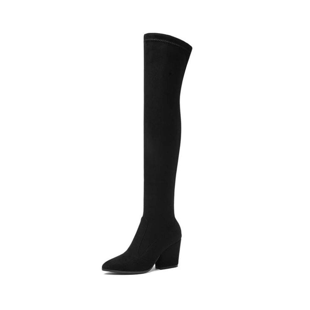 5becb129929ba Amazon.com: YaXuan Women's Over-Knee Boots, Fall Winter Long Knee ...