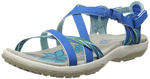 Skechers Regga Delgado mantenerse cerca del gladiador sandalia Blue
