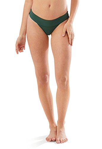 Speedo Women's Bondi Bottom Bikini, Bottle Green, Large ()