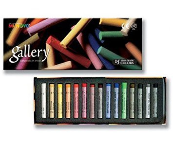Mungyo Gallery Soft Pastels Cardboard Box Set of 15 - Assorted Colors