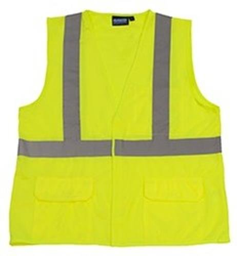 Size 5X Hi-Viz Lime Standard Plumbing Supply ERB 65016 S190 Class 2 Fame Retardant Treated Safety Vests
