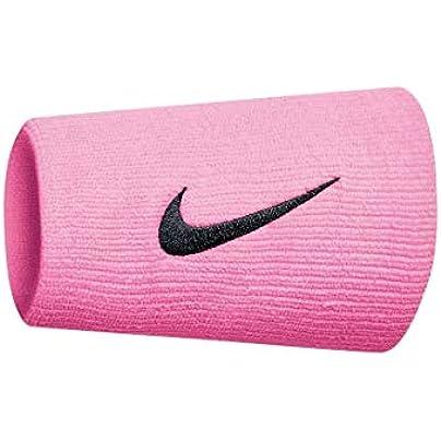 Nike SWOOSH DOUBLEWIDE WRISTBANDS OSFM PINK GAZE OIL GREY Estimated Price £32.00 -