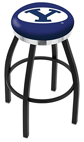 (Holland Bar Stool L8B2C Brigham Young University Swivel Counter Stool, 25