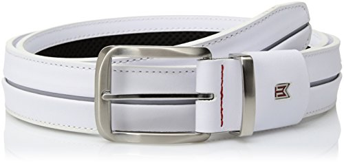 Tiger Woods Nike (Nike Men's Nike Men's Tiger Woods Stripe With G Flex Belt, white/wolf grey, 36)