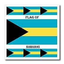 Sandy Mertens Flags of the World - Flag of Bahamas - 6x6 Iron on Heat Transfer for White Material (ht_211395_2)