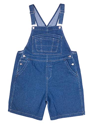 BoundOveralls Women's Plus Size Overall Shorts Dark Stonewash Denim Size 22 ()