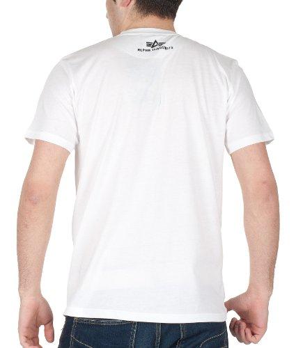 Alpha Industries T-Shirt Track T, Color:white;Größe:S