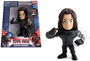 Marvel Captain America Civil War 4 inch Diecast Metal Action Figure Winter Soldier