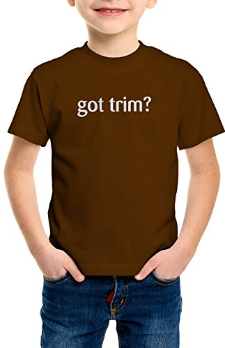 shirtloco Boys Got Trim Youth T-Shirt, Dark Chocolate (Milk Chocolate Sailboat)