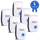 Tebaba Ultrasonic Vermin Repeller, 2019 Newest Electronic Vermin Control Ultrasonic Repellent Indoor Plug and Play for Garden, Bedroom, Kitchen, Living Room give You a Comfortable Life (6 Packs)