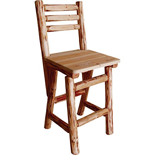 Rush Creek Log Slant-Back Bar Stool