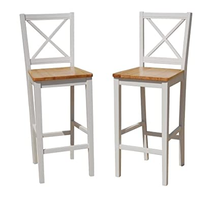 Target Marketing Systems TMS 30 Inch Virginia Cross Back Stools (Set Of 2),