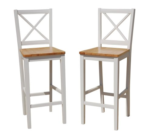Target Marketing Systems TMS 30 inch Virginia Cross Back Stools (Set of 2), (Virginia Bar Pub)