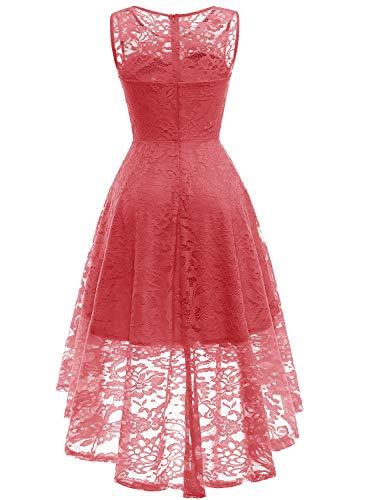 fd0c45ff4da671 MUADRESS Women s Vintage Floral Lace Sleeveless Hi-Lo Cocktail Formal Swing  Dress