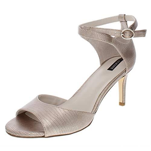 Alfani Womens Aleah Peep Toe Ankle Strap Classic Pumps, Champagne, Size 8.5