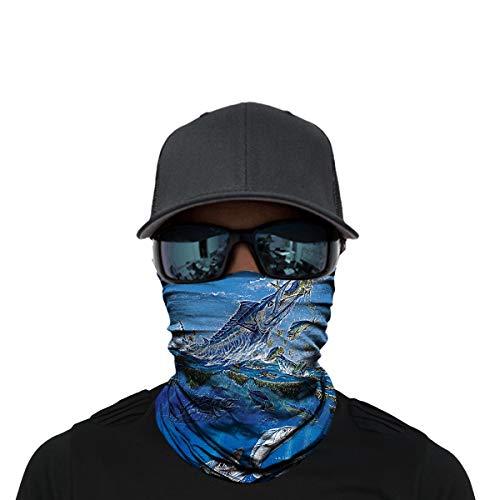 eadwear, Face Sun Mask, Magic Scarf, Bandana, Balaclava, Headband for Cycling, Fishing, Motorcycling, Running, Skateboarding, Moisture Wicking UV Protection (D-HR040367) ()